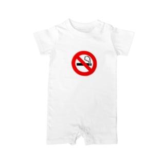 禁煙マーク入り Baby rompers