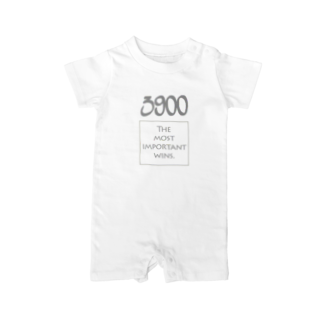 wlmのPOINTS 3900 Gray Baby rompers