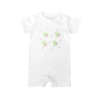 spruce branch with cones Baby rompers