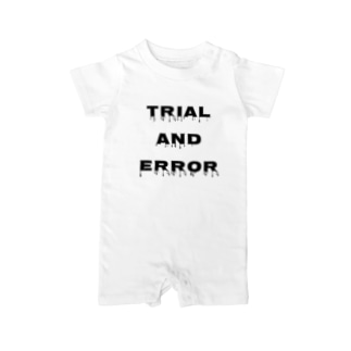 Trial and error logo Baby rompers