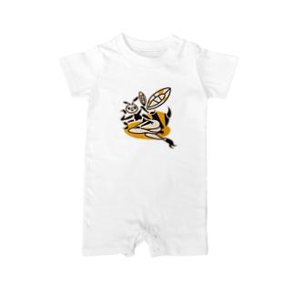 蜂ガール Baby rompers