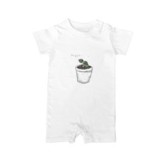 葉っぱ  鉢植え Baby rompers