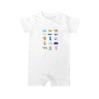 Animalia Anatomy Baby rompers