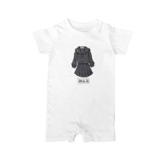 冬服セーラー服(黒) Baby rompers