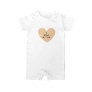 OMC1029のI LOVE HEDGIE Baby rompers