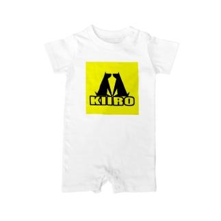 黄色計画 始めの一歩(ロゴ) Baby rompers