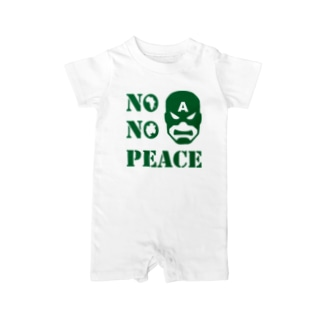 NO CAPTAIN☆AFRICA NO PEACE Baby rompers