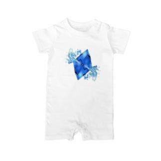 フェイクディガー「水の青い宝石」 Baby rompers