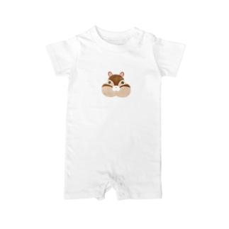 動物シリーズ りす Baby rompers