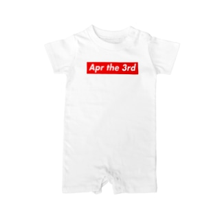 Apr the 3rd(4月3日) Baby rompers