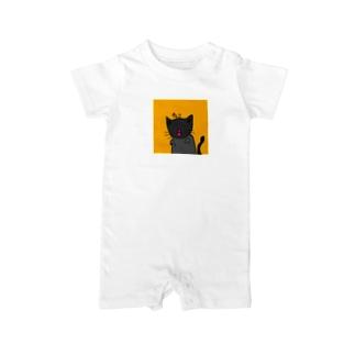 ネコみそうなネコ Baby rompers