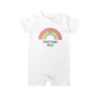 Rainbow_ニコちゃん Baby rompers