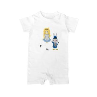 アリス&ホワイトラビット Baby rompers