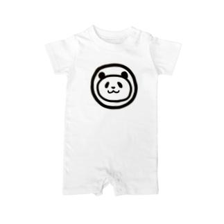 パンダのまんま Baby rompers