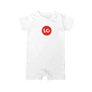 LanCulグッズ(ロゴ赤丸) Baby rompers