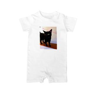 黒猫は不吉じゃない Baby rompers