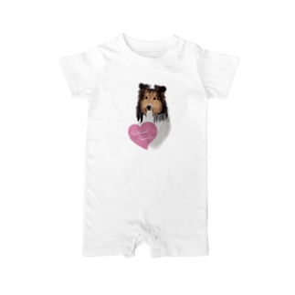 Shetland Sheepdog(シェルティ) Baby rompers
