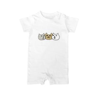 ネコだんご (文字無し) Baby rompers