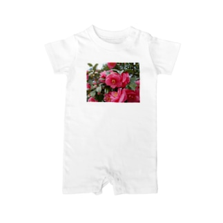 Pink camelia blooming カメリア Baby rompers