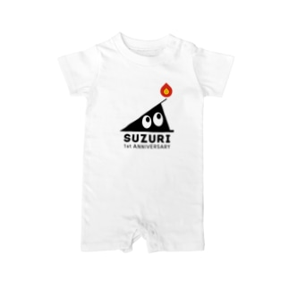 SUZURI 1st ANNIVERSARY Baby rompers