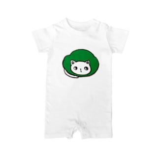 maruneko-green- Baby rompers