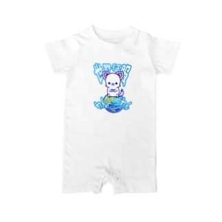 世界征服わんわん!(チワワ) Baby rompers