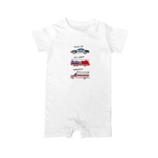 アメリカの緊急車両っぽいイラスト Baby rompers