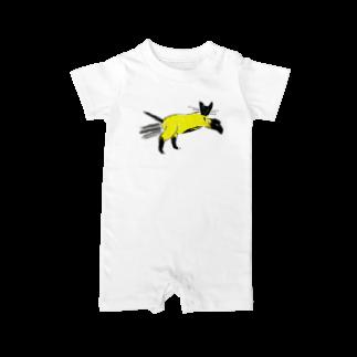 horimotoxxyukiのflying cat Baby rompers