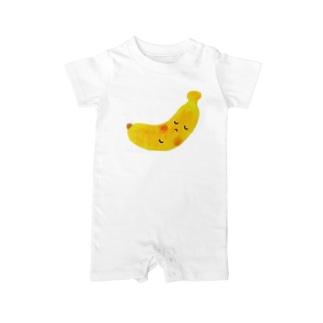 すやすやバナナちゃん Baby rompers