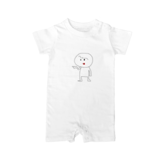 笹錦あきら@LINEスタンプ販売中のミスターホワイト Baby rompers