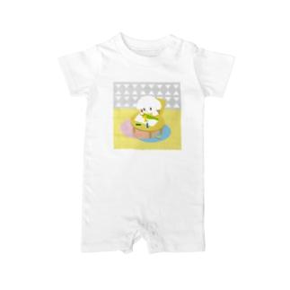 こいぬちゃん(おえかき) Baby rompers