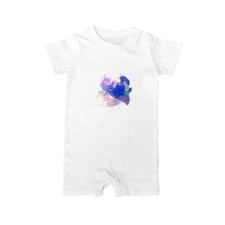 紫陽花 Baby rompers