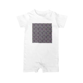 レオナのPolka Dots(Vintage Tricolor) Baby rompers