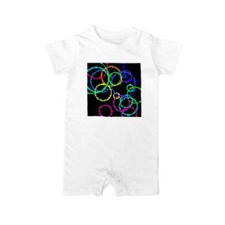 Retro Game Pattern(Random Circles) Baby rompers