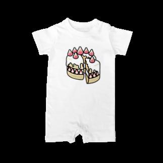 Cɐkeccooの特別な日のショートケーキ Baby rompers