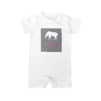 ARIA WILD BOAR ROGO GRAY Baby rompers