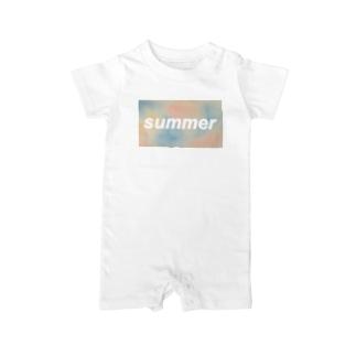 パステルSUMMER Baby rompers
