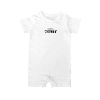 CHOBBY メガネウサギ Baby rompers