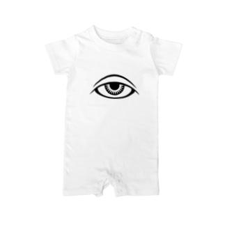 呪術と瞳 Baby rompers