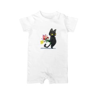 thank you cat Baby rompers