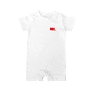 URL赤-02 Baby rompers