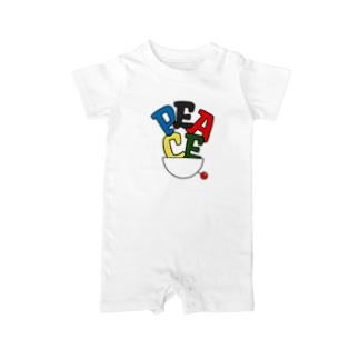 PEACE色-01 Baby rompers