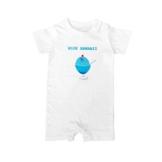 かき氷デザイン「ブルー・ハワイ」 Baby rompers