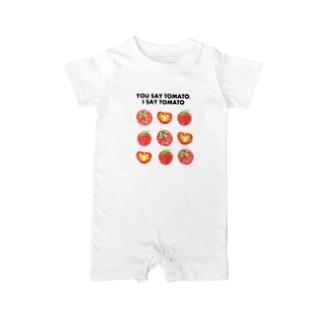 トマトデザイン「埒が明かない」 Baby rompers