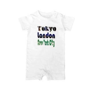 Tokyo×London×New York Baby rompers