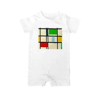 suzu2aのcube Baby rompers