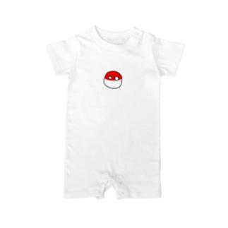 ポーランドボール×カントリボールグッズ商品店のぽーらん(ポーランドボール) Baby rompers