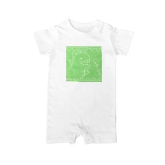 KAIJUU(グリーン) Baby rompers