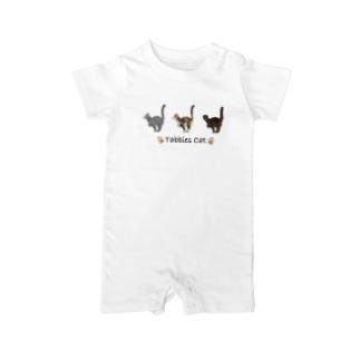 Tabbies Cat(タビー系) Baby rompers