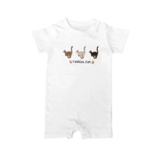 豆つぶのTabbies Cat(ロゼット/ベンガル) Baby Rompers